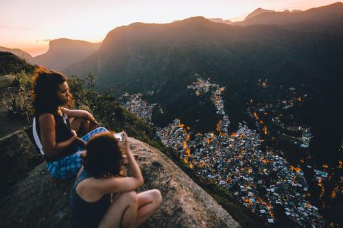 ° Joy Happy Harmonious Relaxation Vacation & Travel Trip Far-off places Freedom Summer vacation Hiking Human being Feminine Young woman Youth (Young adults)