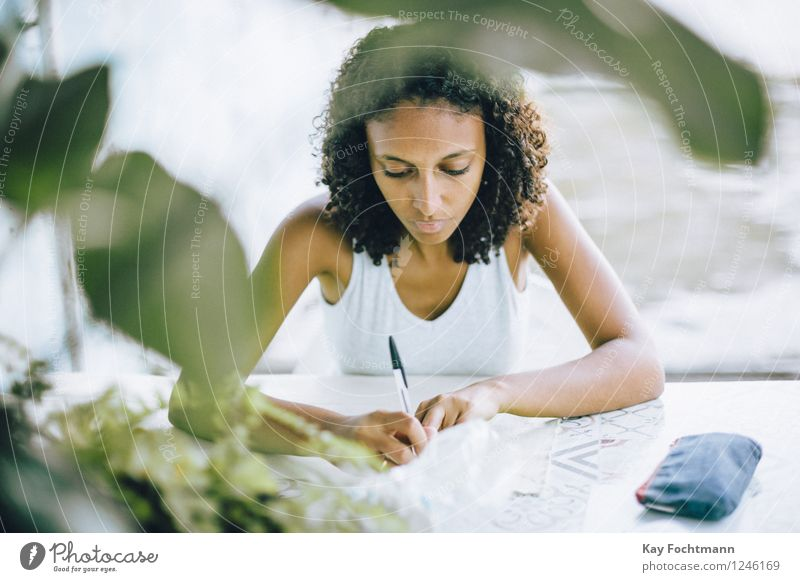 Human being Youth (Young adults) Green Beautiful Young woman Relaxation Calm 18 - 30 years Adults Warmth Life Feminine Work and employment Flat (apartment)