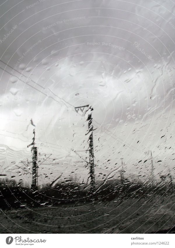 Goodbye spring weekend Rain Trickle Drop Window Bad weather Gray Aphotic Fog Dreary Clouds Unclear Concerning Dark Column Pole Carrier Prop Electricity pylon