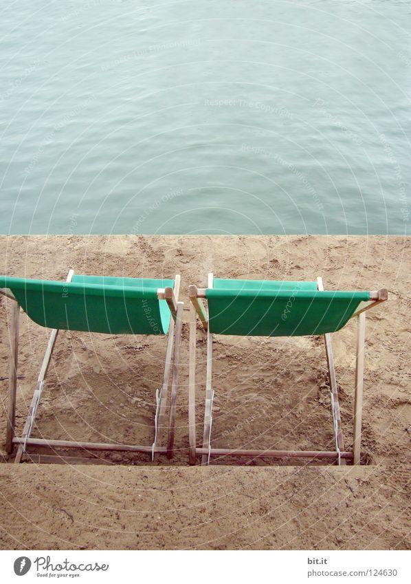 resting place Couch Lie (Untruth) Deckchair Ocean Lake Beach Sea promenade Promenade Calm Rest Relaxation Wellness Vacation & Travel Chair 2 Beach life