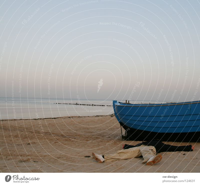 250th - chilling in front of the boat Relaxation Dream Bedroom Ocean Lake Sunrise Sunset Usedom Beach Sand Watercraft Rowboat Fishing boat Fisherman Angler