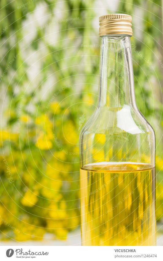 rapeseed oil Food Cooking oil Nutrition Organic produce Vegetarian diet Diet Bottle Style Design Healthy Eating Life Plant Leaf Blossom Fragrance Canola