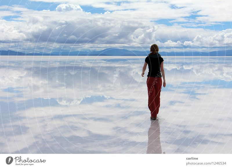 Hasta donde alcanza la vista Nature Landscape Earth Water Sky Clouds Horizon Climate Beautiful weather Desert Far-off places Blue Red White Adventure Eternity