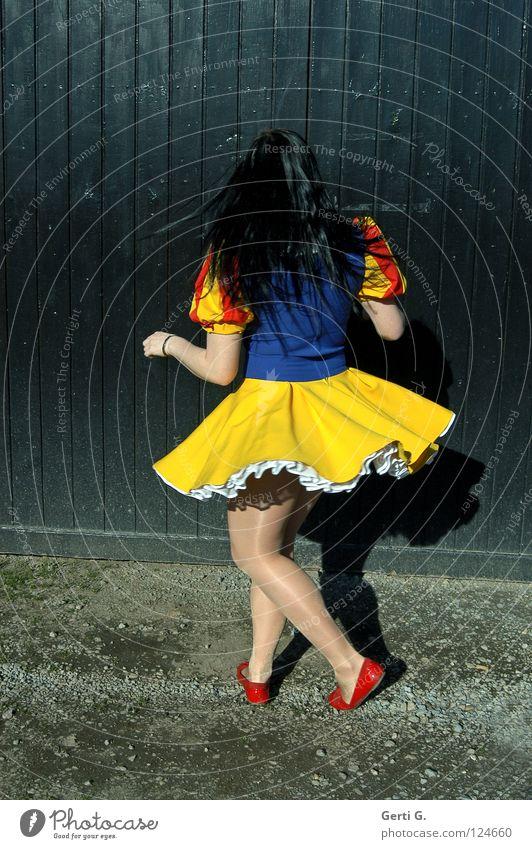 Woman Child Girl Joy Black Loneliness Movement Wood Legs Dance Arm Happiness Dress Carnival Gate Rotate