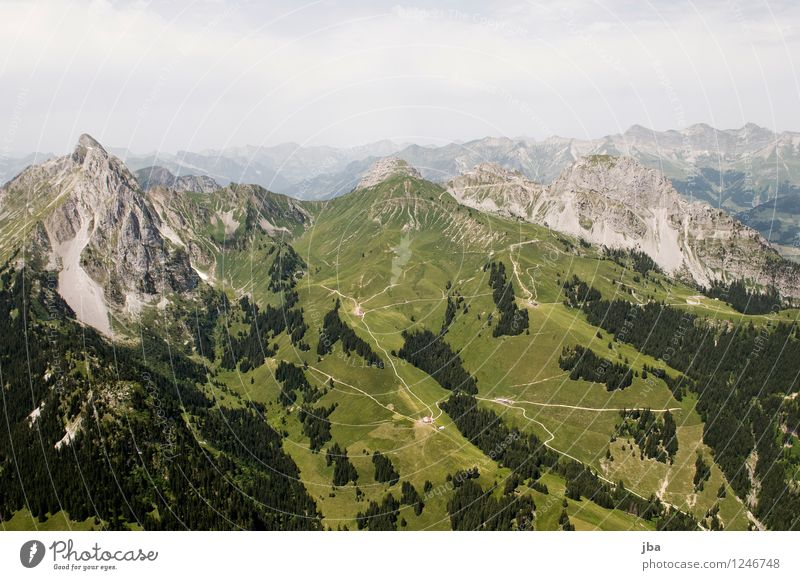 alpine world Lifestyle Well-being Contentment Relaxation Calm Leisure and hobbies Trip Freedom Summer Mountain Sports Paragliding Sporting Complex Nature
