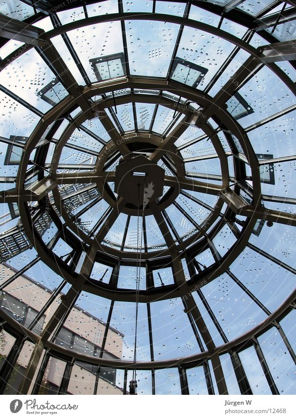 Sky Architecture Glass Circle Round Roof Net Duesseldorf Shopping malls