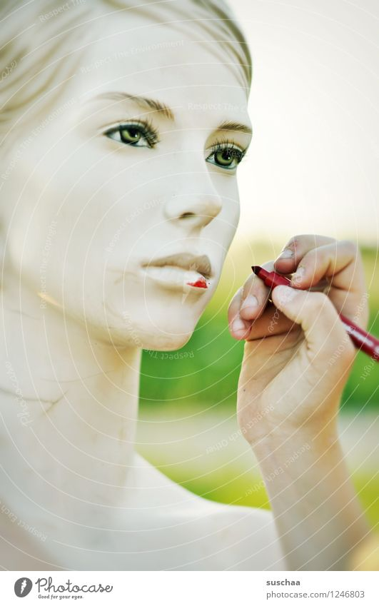 Hand Red Cold Face Eyes Head Mouth Fingers Nose Painting (action, artwork) False Mannequin Perfect Felt-tipped pen