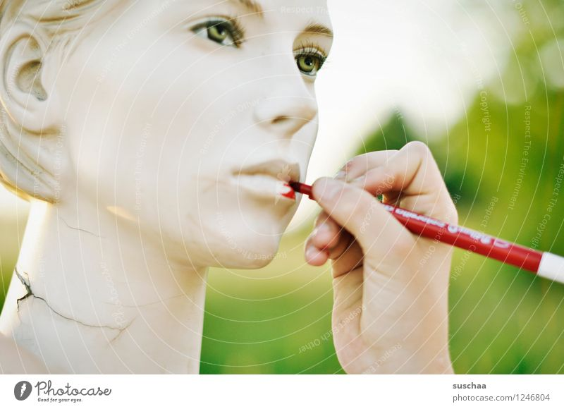 Hand Red Cold Face Eyes Head Mouth Fingers Nose Painting (action, artwork) Lips False Mannequin Perfect Felt-tipped pen