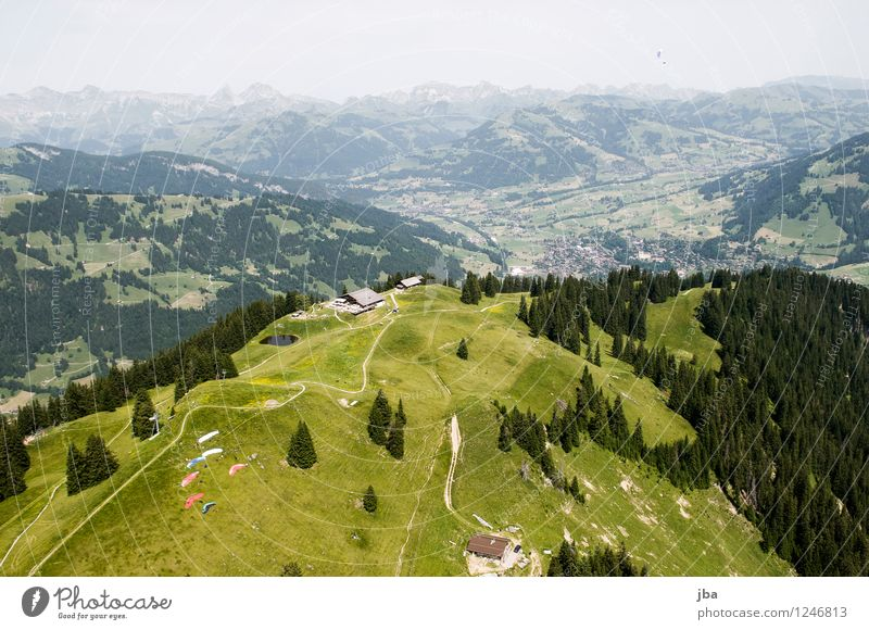 Launch Wispile Lifestyle Well-being Contentment Relaxation Calm Leisure and hobbies Trip Freedom Summer Mountain Sports Paragliding Paraglider Sporting Complex