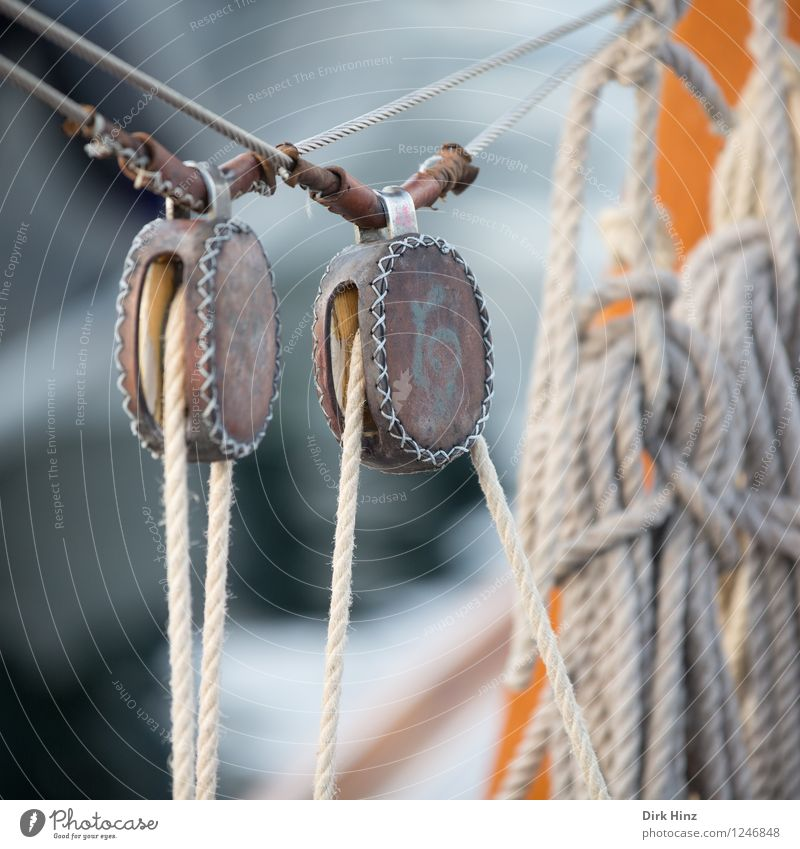 Old Gray Brown Orange Power Authentic In pairs Rope Safety Trust Firm Tradition Stress Navigation Steel cable Sailing