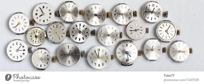 clockworks Machinery Time machine Clock Hand Jump Retro Esthetic Movement Business Watch mechanism Clock face Black & white photo Close-up Detail Deserted