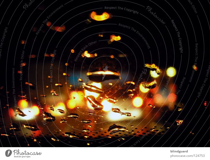 Water White Red Vacation & Travel Yellow Street Lamp Dark Movement Gray Car Rain Line Bright Drops of water Transport