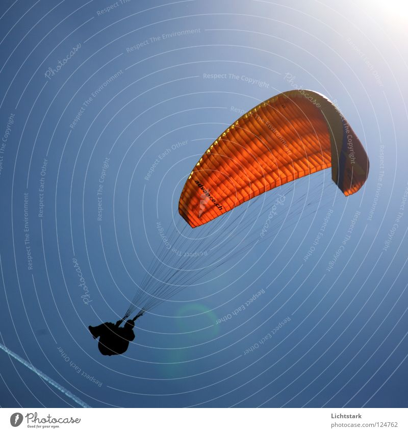 Sky Sun Blue Red Colour Sports Playing Freedom Warmth Air Wind Beginning Aviation Leisure and hobbies Paragliding Funsport
