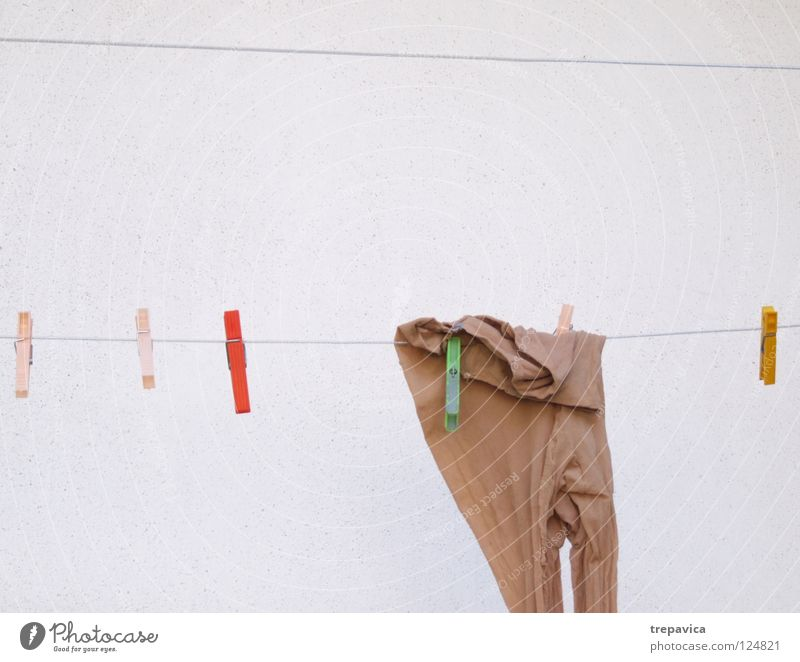 pantyhose Tights Hang Wall (building) Brown Nylon Feminine Multicoloured Clothesline Dry Clean Clothing House (Residential Structure) Work and employment