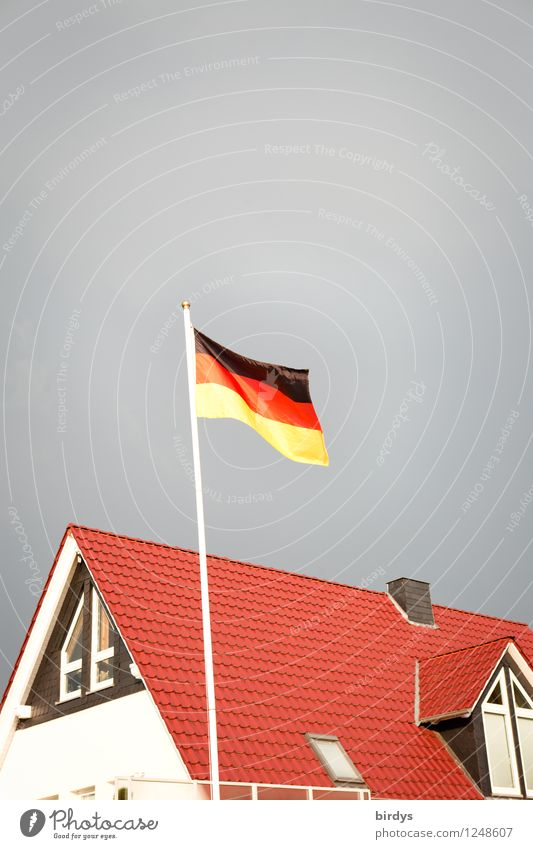 sands Living or residing House (Residential Structure) Storm clouds Wind Germany Detached house German Flag Esthetic Authentic Kitsch Original Clean