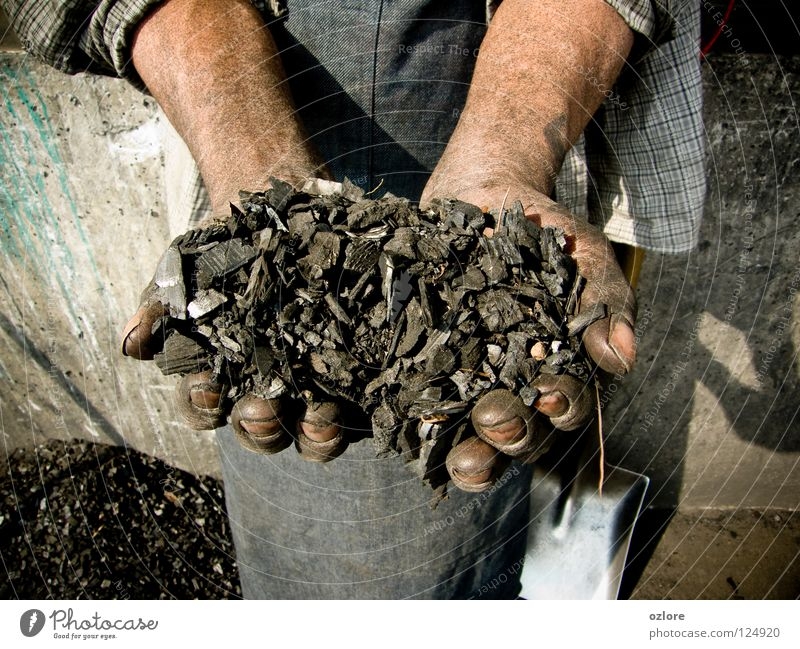 My Life is The Coal Art Arts and crafts  hands coal bunch handful hard work dirty reality showing