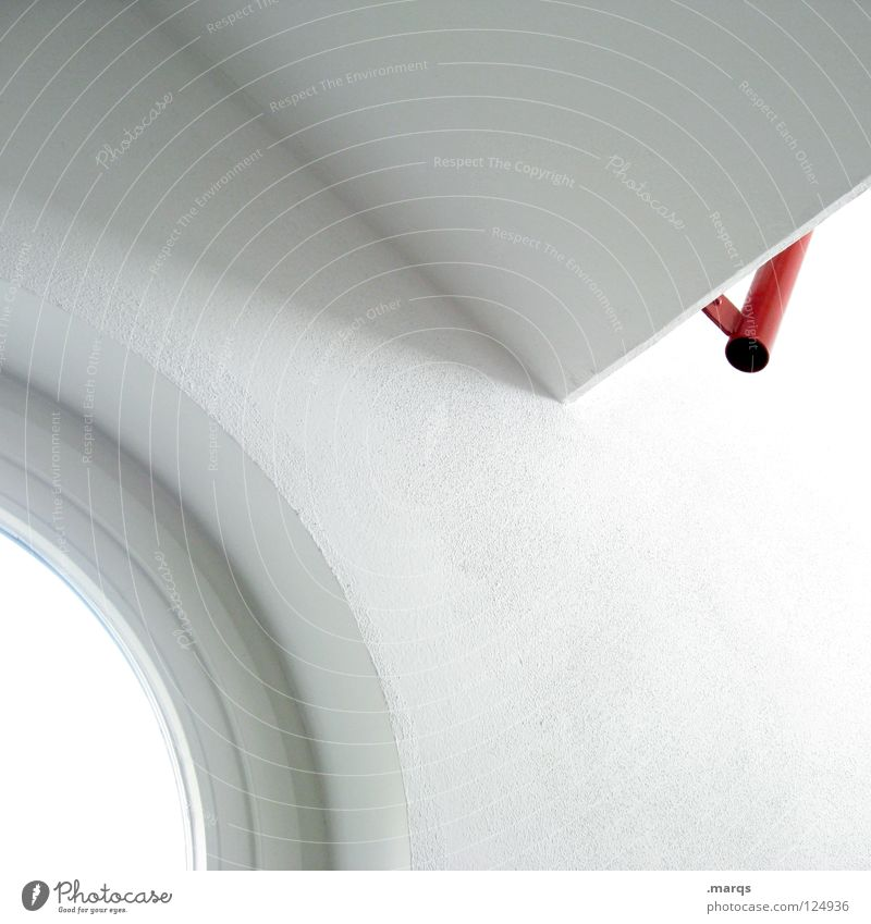 clean White Red Round Corner Light Abstract Clean Decent Simple Tidy up Sterile Obscure Architecture Detail Circle Line Shadow