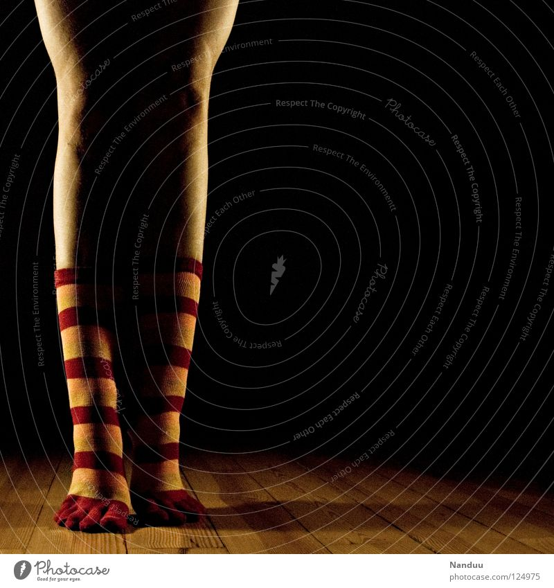 Dark Playing Legs Feet Art Dance Stand Floor covering Ground Culture Stage play Stockings Striped Ballet Floodlight