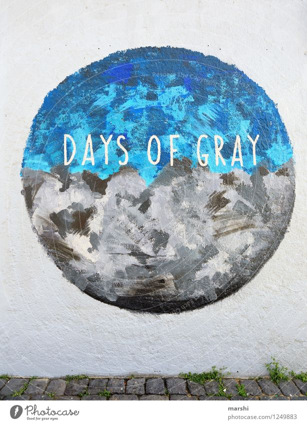 days of gray Art Artist Work of art Painting and drawing (object) Sign Characters Ornament Signage Warning sign Graffiti Moody Iceland Travel photography