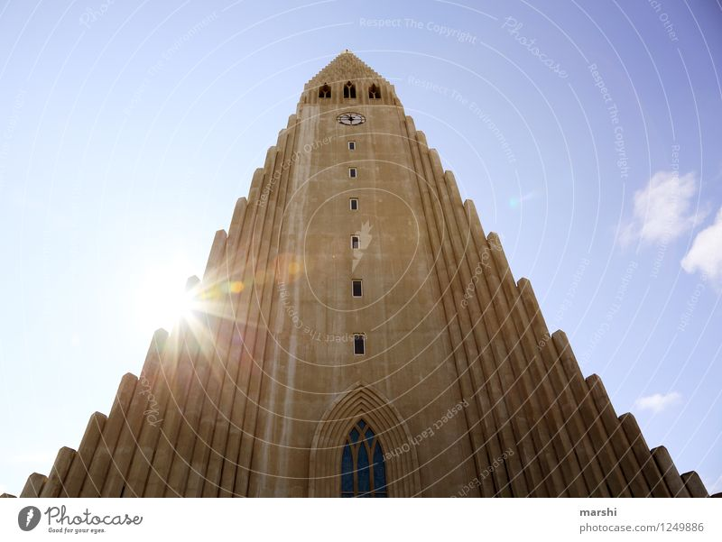 Hallgrímskirkja Work of art Landscape Town Capital city Downtown House (Residential Structure) Church Wall (barrier) Wall (building) Tourist Attraction Emotions