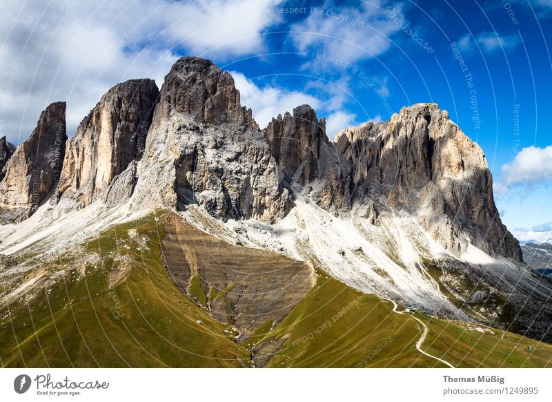 Dolomites Summer Mountain Hiking Landscape Alps Vacation & Travel Beautiful Relaxation Leisure and hobbies Tourism Trentino-Alto Adige Italy Langkofel