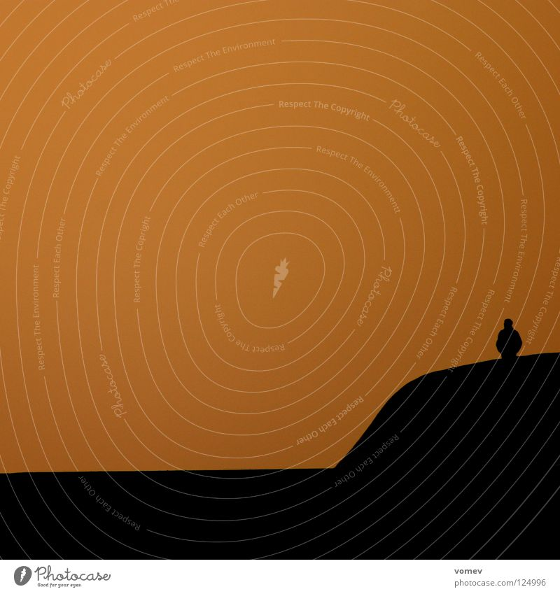 Ocean Loneliness Black Coast Moody Orange Break water