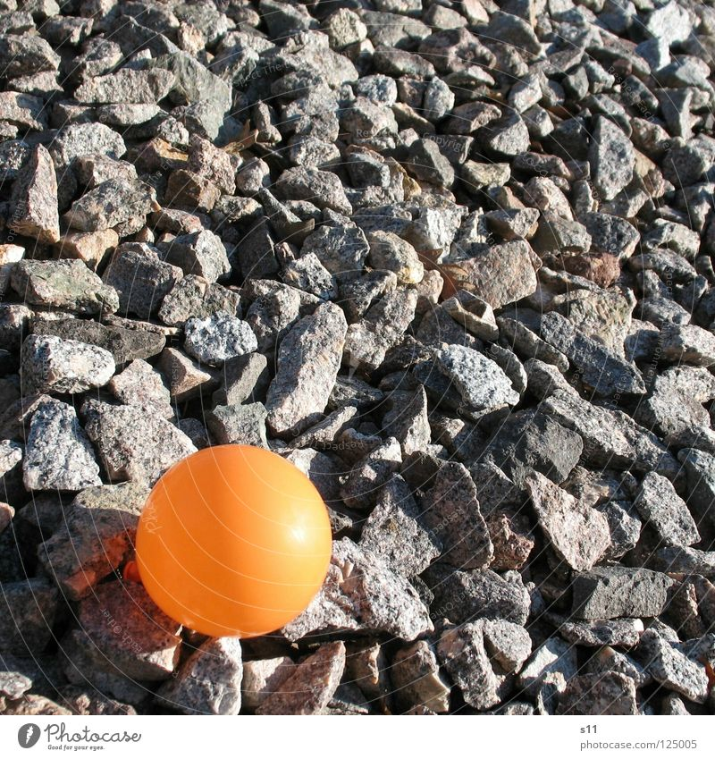 Loneliness Stone Air Orange Feasts & Celebrations Circle Floor covering Balloon Round Decoration Point Sphere Beautiful weather Blow Gravel Minerals
