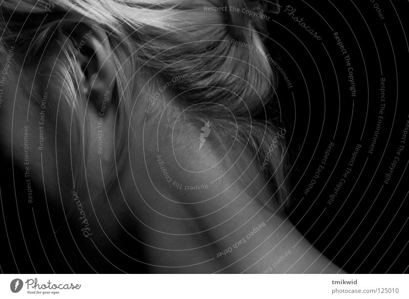 Ksenia Woman neck Black & white photo calm skin