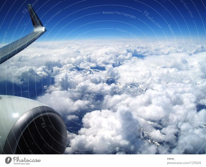 Clouds Snow Mountain Air Airplane Flying Alps Sicily
