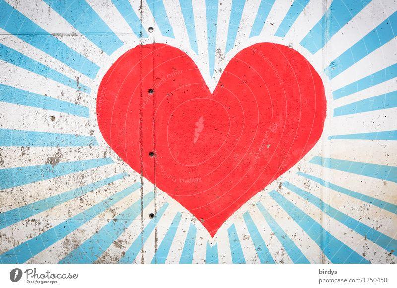 Beautiful Colour White Red Love Graffiti Happy Exceptional Art Illuminate Esthetic Large Heart Concrete Joie de vivre (Vitality) Warm-heartedness
