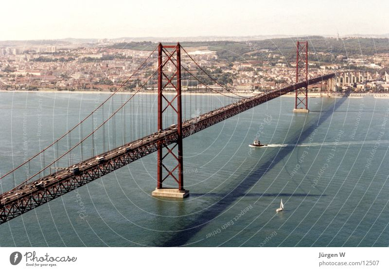Water Summer Vacation & Travel Europe Bridge Portugal Lisbon Tejo