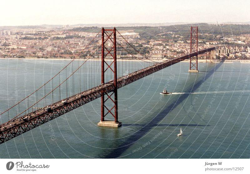 Water Summer Vacation & Travel Europe Bridge Portugal Lisbon Tejo