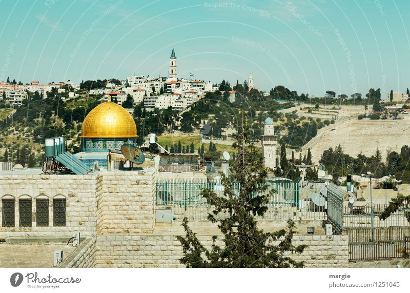 View of the Dome of the Rock in Jerusalem Vacation & Travel Tourism Far-off places Freedom Sightseeing City trip Culture Dome of the rock West Jerusalem Israel