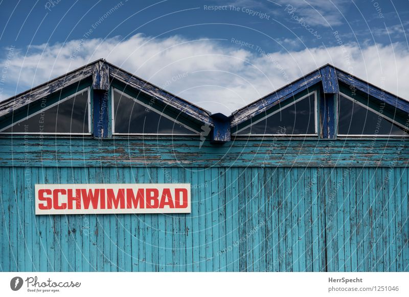 Summer, Sun, Swimming pool House (Residential Structure) Manmade structures Building Roof Wood Characters Signs and labeling Signage Warning sign Old