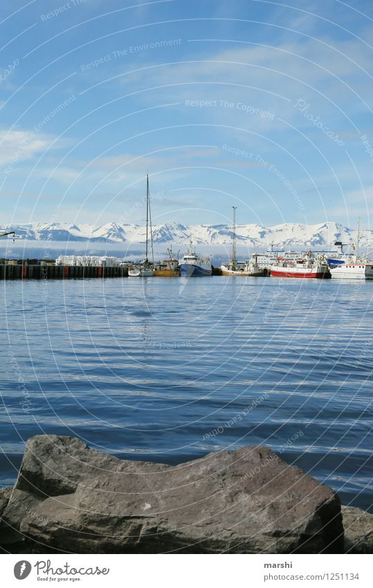 husavik Leisure and hobbies Nature Landscape Sun Summer Mountain Volcano Coast Lakeside Bay Fjord Ocean Island Moody Travel photography Iceland mountainous