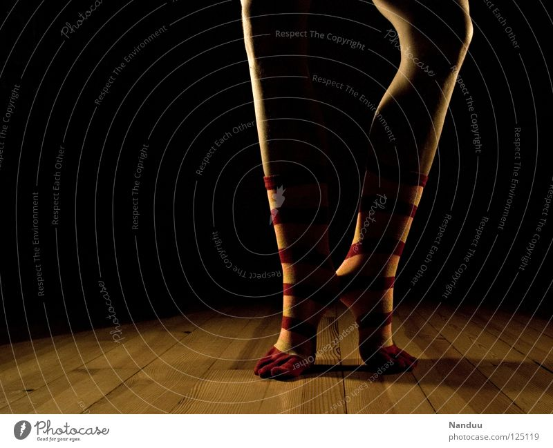 Dark Playing Legs Feet Art Dance Floor covering Culture Stage play Stage Stockings Striped Ballet Floodlight Parquet floor Dancer