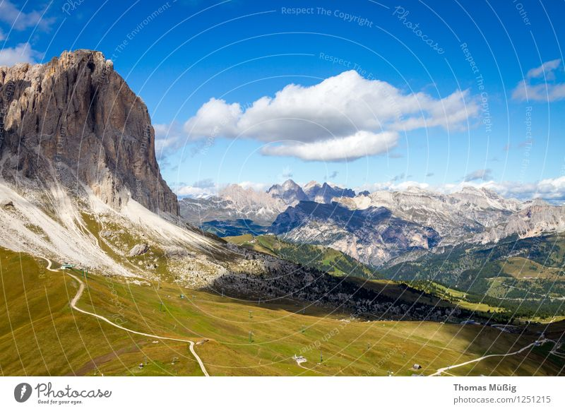 Dolomites Tourism Summer Mountain Hiking Forest Alps Peak Vacation & Travel Wanderlust travel Trentino-Alto Adige Mountaineering Blue sky high mountains Italy