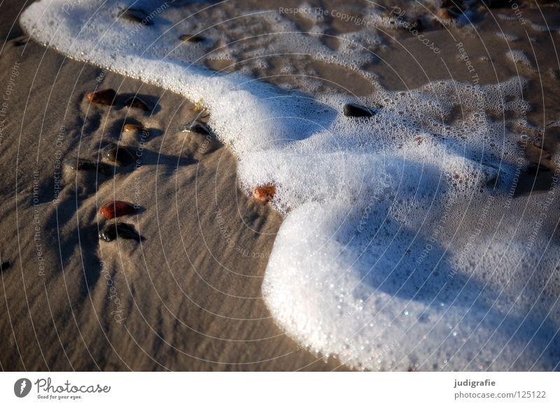 beach Beach Coast White crest Air Foam Salty Fine Wet Lake Ocean Western Beach Beautiful Environment Calm Vacation & Travel Colour Sand Stone Water Blow