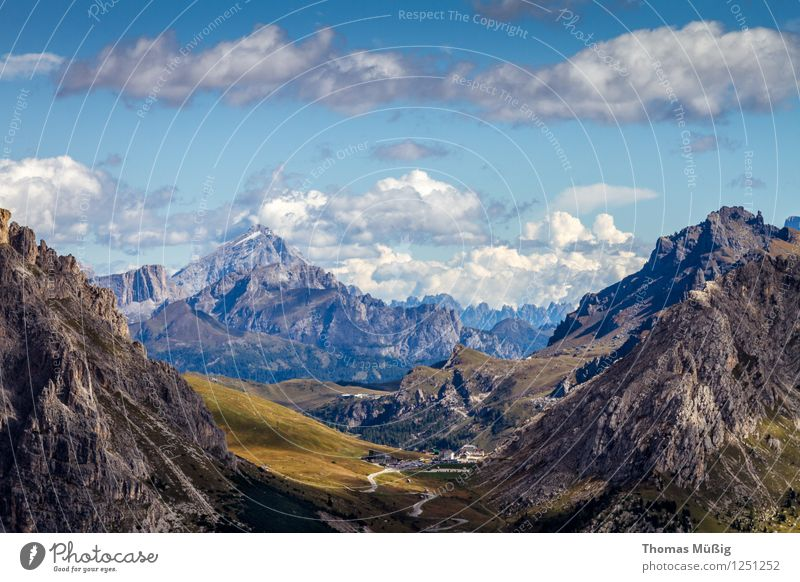 Dolomites Summer Mountain Hiking Landscape Clouds Beautiful weather Alps Discover Vacation & Travel Wanderlust Trentino-Alto Adige Italy South Tyrol mountains