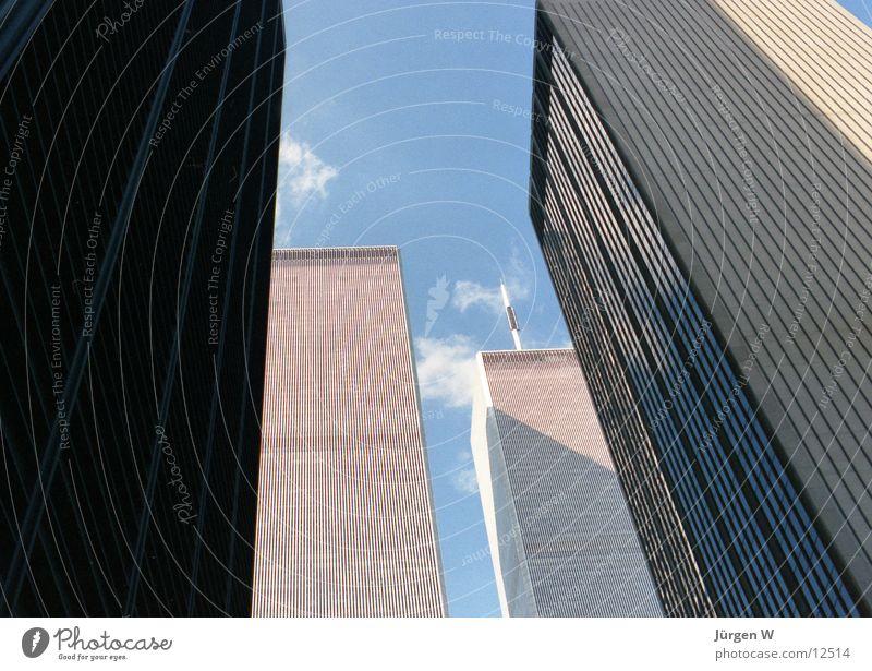 Sky Blue Clouds High-rise USA Tower New York City World Trade Center