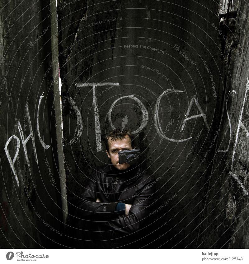 1100 - click Clack Zipper Salto Fear Photography Concrete Wall (building) Wall (barrier) Man Photographer Freestyle Acrobatics Portrait photograph Against