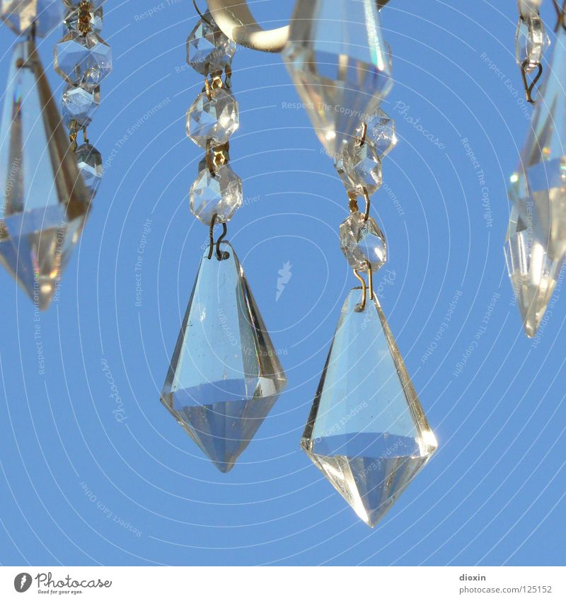 Sky Blue Art Glittering Glass Jewellery Noble Crystal structure Diamond Treasure Brilliant Precious Arts and crafts  Expensive Fraud Lamp