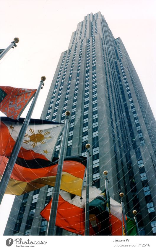 Rockefeller Center, 1989 New York City Flag High-rise Architecture USA building