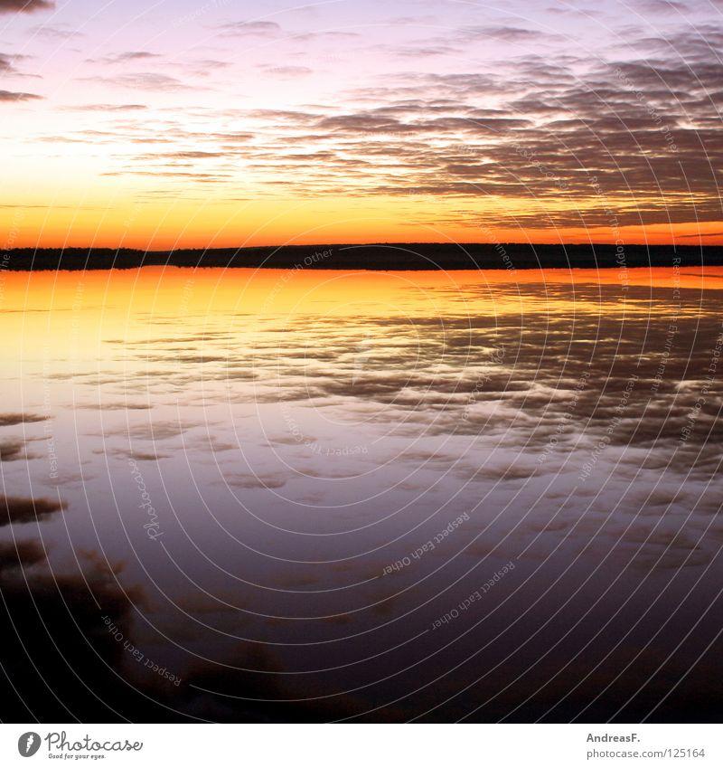 Nature Water Sky Sun Summer Beach Vacation & Travel Clouds Lake Landscape Orange Coast Horizon Romance Fishing (Angle)