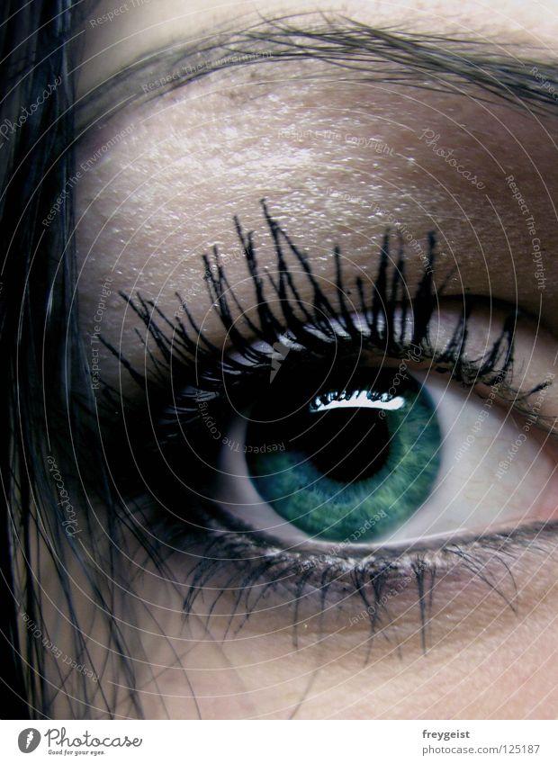 Green Black Face Eyes Dark Hair and hairstyles Mysterious Make-up Cosmetics Mystic Eyelash Eyebrow Pupil Mascara Iris Eyeliner