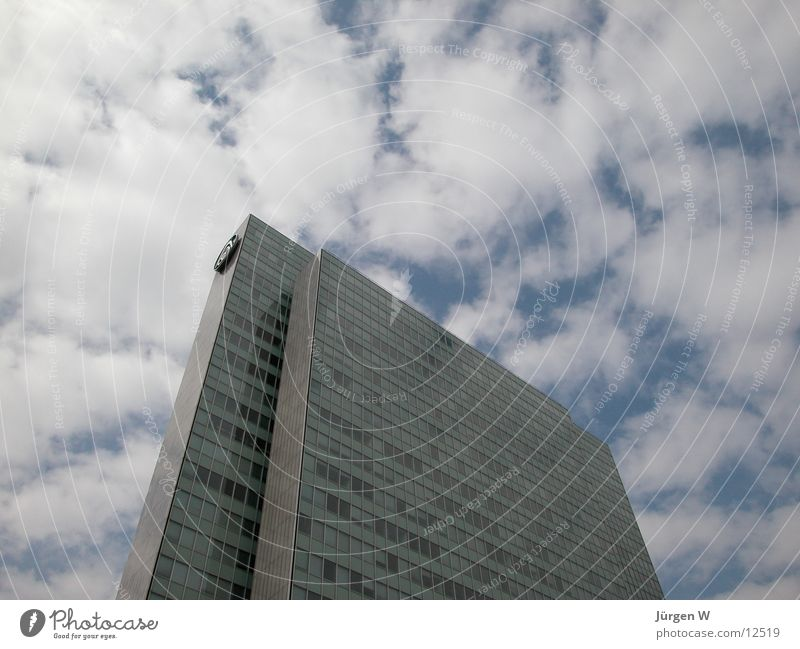 Sky Clouds Architecture High-rise Facade Duesseldorf Front side