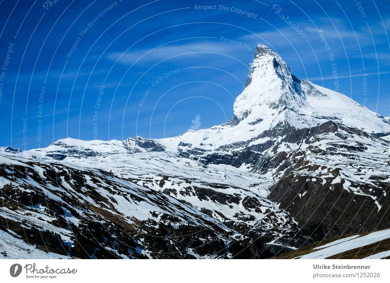 The mountain called 1 Vacation & Travel Tourism Trip Adventure Summer Summer vacation Snow Mountain Hiking Environment Nature Landscape Sky Clouds Rock Alps