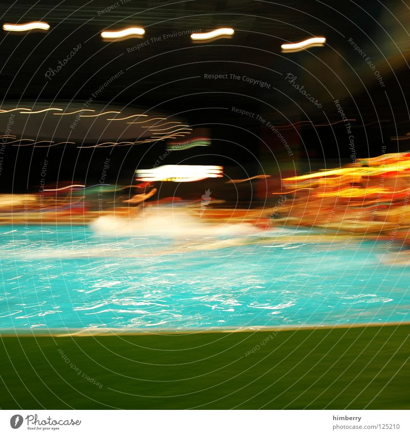 poolfool Dive Action Swimming pool Blur Refreshment Light Watercraft Playing Sports Lomography Joy Movement Drops of water Trashy Inject refresh