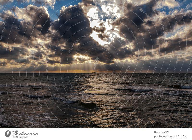 Nature Water Sun Clouds Horizon Air Wind Infinity Baltic Sea