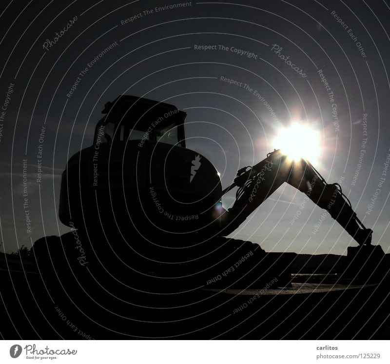 Who's going to dig the dredge hole this late? Excavator Skid loader Womanizer Personal ad Back-light Dazzle Construction site Insolvency Paying Income Strike